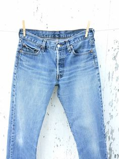 LEVIS 501 Jeans 29 Waist High Waisted Denim by HuntedFinds on Etsy