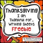 Thanksgiving Activity: I am Thankful for - Thanksgiving Wr