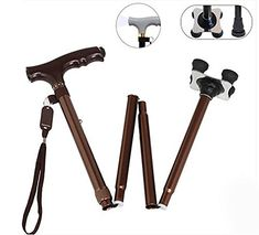 G&M Foldable Adjustable Lightweight Telescopic Trekking Poles Non-slip Cane Handle Hiking Walking Stick Black , brown. For product & price info go to:  https://all4hiking.com/products/gm-foldable-adjustable-lightweight-telescopic-trekking-poles-non-slip-cane-handle-hiking-walking-stick-black-brown/