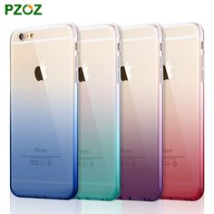 PZOZ For ipone 6 Original For iphone 6 s plus Case Gradient Color Silicone Cover Luxury Slim Phone Protection Soft Shell 4.7&5.5