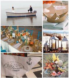 I love the idea of a paper boat for a wedding near the water!