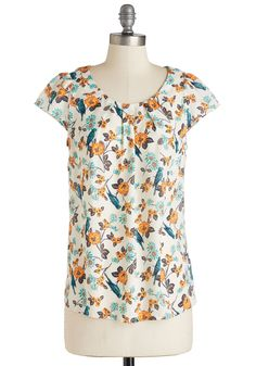 Steal the Show Top in Parakeets, @ModCloth