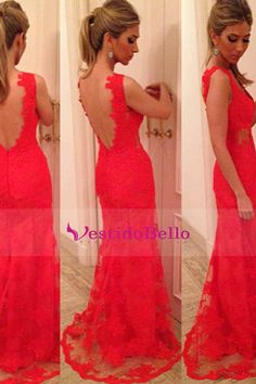 Backless prom dresses,red prom dress,backless prom gown,open back Open Back Prom Dresses, Long Prom Gowns, Lace Party Dresses, Backless Prom Dresses, Ball Dresses, Homecoming Dresses, Formal Dresses, Dress Prom, Bridesmaid Dresses