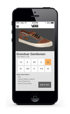 Vans Mobile App by Domingo Valdez, via Behance