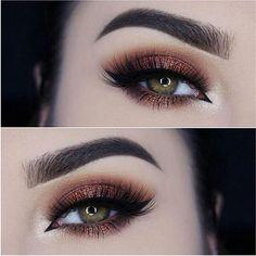 Bronzed cranberry smoky eye