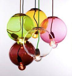 Suspension Meltdown. Création suédoise en verre soufflé.