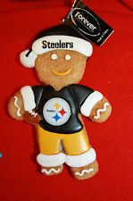 Pittsburgh Steelers Gingerbread Man Ornament Christmas NEW CUTE