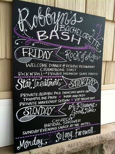 Bachelorette party invitation itinerary camping weekend for Cabin bachelor party