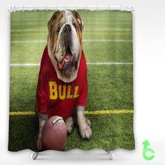 Cheap Dog Funny Cute bulldog Shower Curtain