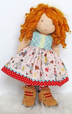 "Image of ""Annie's Vintage School Dress"" fits most 17"" - 19"" dolls"