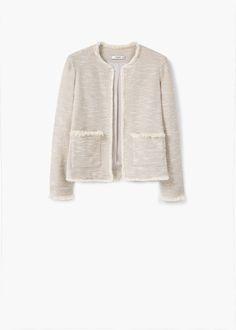 Jacke aus baumwoll-jacquard | MANGO