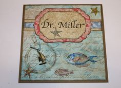 6x6 Card Personalized - Sea Background