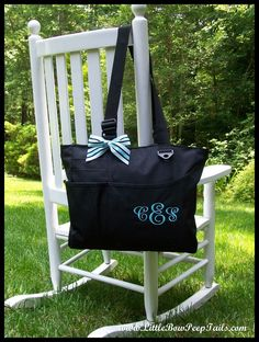 Great Idea for Bridesmaid gifts!  Very useful! Monogrammed Super Feature Tote  Personalized by SomethingYouGifts, $26.95