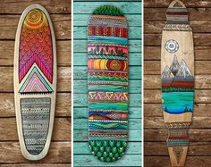 Benutzerdefinierte handbemalte Skateboard/Mini Cruiser/Longboard deck