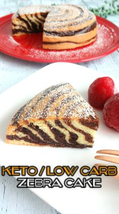 ZEBRA CAKE – Keto, Low Carb, Gluten Free, Sugar Free As soon as I saw a recipe video of a zebra cake with the regular flour, I felt like trying making one in a keto version! The cake l… Dessert Mousse, Paleo Dessert, Gluten Free Desserts, Dessert Recipes, Keto Desserts, Healthier Desserts, Cake Recipes, Low Carb Deserts, Low Carb Sweets