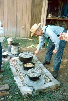 Dutch Oven - Encyclopedia of Arkansas . I like that set up.