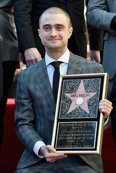 He also got kind of emotional when he thanked his parents for their support. | Daniel Radcliffe Accepted His Star On The Hollywood Walk Of Fame And It Will Make You Feel Things