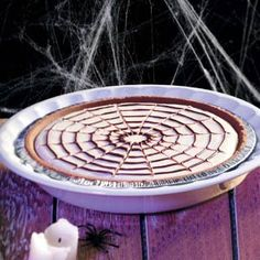 Spiderweb Cheesecake: Try this for a ''chilling'' Halloween t...