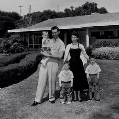 Johnny Carson, who married four times, had three sons with first wife Jody (from left, at the family home in Encino, Calif., in 1955: Cory, Ricky and Chris).