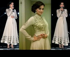In an ivory Shantanu & Nikhil suit and jewelry by Farah Khan Ali, Dia Mirza attended a recent event held in Hyderabad.