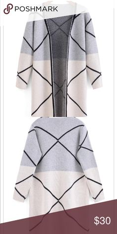 """Color block cardigan sweater Sz XS Cardigan sweater. Sz XS . Brand new, never worn. Chest flat across when touching 16"""" other wise open front. Length 28"""" Sweaters Cardigans"""