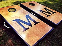 Real Birch Stained Custom Personalized Cornhole by WGCornhole, $175.00