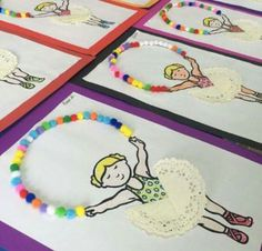 Balerin Projects For Kids, Diy For Kids, Crafts For Kids, Arts And Crafts, Preschool Art Activities, Preschool Activities, Montessori Art, Happy Birthday Girls, Angel Crafts