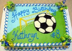 How To Decorate A Soccer Ball Cake Soccer Ball Birthday Cakevisit Us Facebookmarissa'scake Or