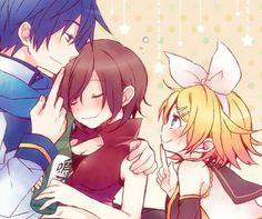 Kaito, Meiko and Rin