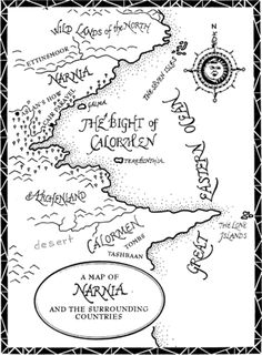 A map depicting Narnia, details like this help the reader to buy into the fantasy world that the author creates and provides insight into the workings of that world. Map Of Narnia, Narnia 3, Narnia Cake, Lion Coloring Pages, Cair Paravel, Prince Caspian, Last Battle, Chronicles Of Narnia, Cs Lewis