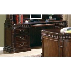 Coaster Furniture - Rich Brown Home Office Credenza - C800801B #coasterfurnituredesks #coasterfurniturebrown #coasterfurniturehome