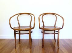 SOLD 1 Bentwood Thonet Style Cane Arm Chairs ZPM Radomsko Made in
