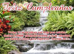 Postal de feliz cumpleaños con versiculos biblico, Jeremías 29:11, ver la tarjeta musical aquí: http://www.riotarjetas.com/feliz_cumpleanos_cristianas.html