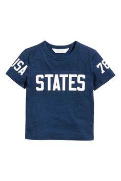 Printed T-shirt - Dark blue - Kids | H&M