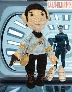 Patron Gratis, Mr.Spock Amigurumi http://www.galamigurumis.com/patron-de-mr-spock-amigurumi/