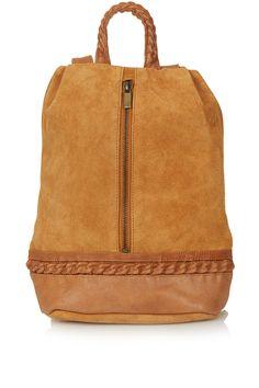 tan suede backpack...loving it