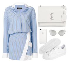 """""""Untitled #10609"""" by tatyanaoliveiratatiana ❤ liked on Polyvore featuring Alexandre Vauthier, Yves Saint Laurent, adidas Originals, Chicnova Fashion, men's fashion and menswear"""