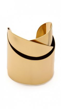 Add a dash of gold with this shiny sculptural cuff. // Alexis Bittar Geometric Ribbon Cuff Bracelet