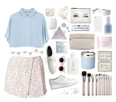 """""""twice as hard ain't twice as good"""" by rowanthethree ❤ liked on Polyvore featuring A.L.C., Monki, John Lewis, Laura Ashley, Essie, SUQQU, Marie Turnor, Shabby Chic, Deborah Lippmann and Kate Spade"""