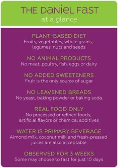 The Daniel Fast: Background, Overview & Benefits Daniel Fast Food List, Daniel Fast Meal Plan, 21 Day Daniel Fast, 21 Day Fast, The Daniel Plan, Daniel Fast Recipes, Daniel Fast Meals, Fast And Pray, Water Fasting