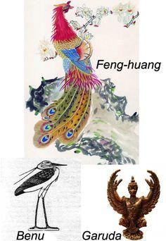 Benu, Garuda of the Hindus and Chinese Feng-huang