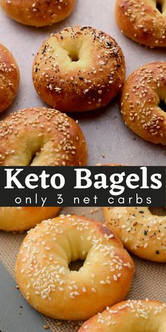 Easy Keto Bagels (3 net carbs!)