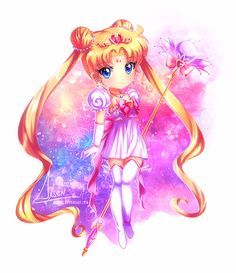 comm:: Chibi Neo Sailor Moon by Axsens.deviantart.com on @DeviantArt