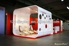 Recycle exhibition booth in aluminum