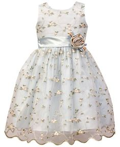 Jayne Copeland Floral Embroidered Dress, Little Girls - Dresses - Kids & Baby - Macy's Toddler Girl Outfits, Toddler Dress, Baby Dress, Toddler Girls, Little Girl Dresses, Girls Dresses, Baby Girl Dress Patterns, Victoria, Lovely Dresses