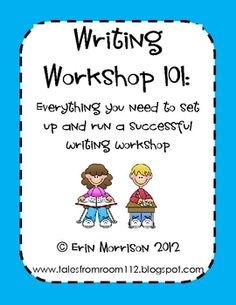 This product is packed with resources for setting up and running writing workshop in your classroom. 44 pages for you to use!