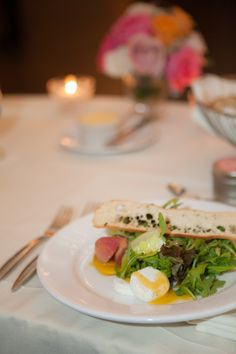Salads are set! | | emilie inc. photography #AldenCastle #ModernVintage #Wedding