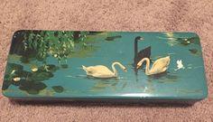 Vintage German XOX Biskuitfabrik Kleve Rhineland Art Deco Swans Hinged Tin Box | eBay