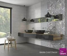 NEW IN: Make a statement feature wall with the Issole Cold ceramic wall tile - Moroccan inspiration at its finest! Mix with tiles in the Camargue range and you can create a pattern that really stands out, for just £19.90 per m²