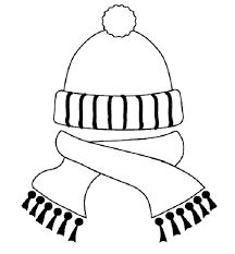 Coloring Pages Hat And Scarf Printable Version